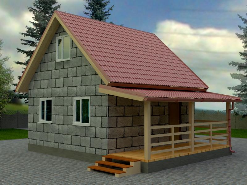дачный домик из сибита проекты фото самым